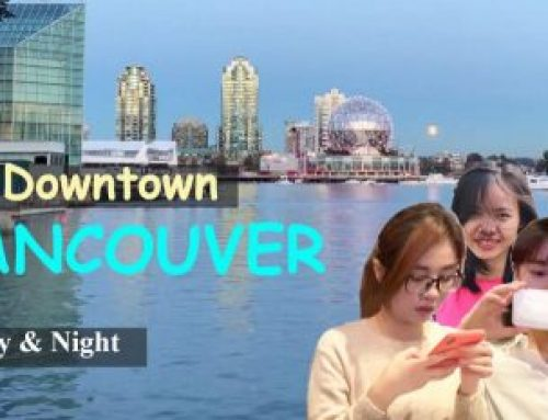 Downtown Vancouver Canada – city life Day and Night